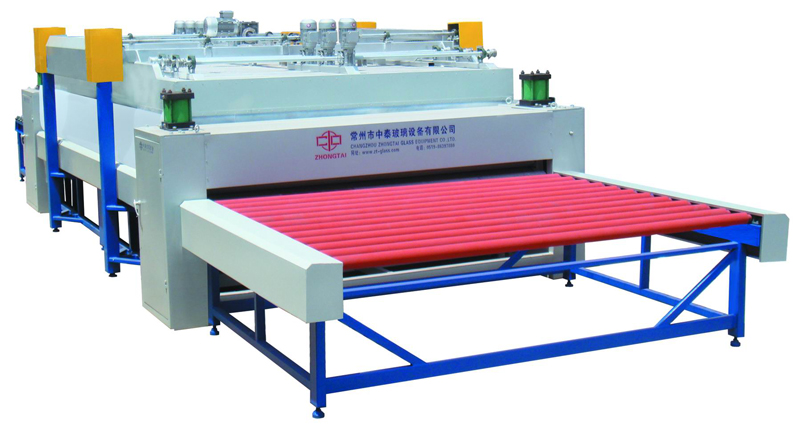 Roller pre-pressing machine for both and curve glass