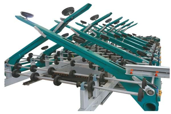 Automatic glass loading machine double side